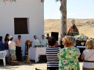 Un momento de la eucaristía con motivo del LVI aniversario de la coronación el año pasado.