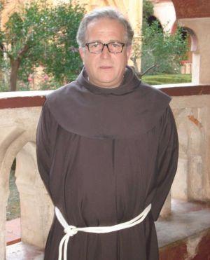Fray Sebastián Ruiz en el Monasterio de Guadalupe, del que es guardián. FOTO: CEDIDA