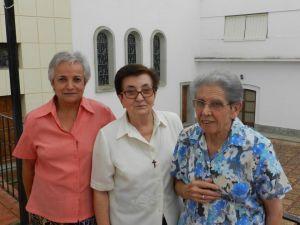 Imagen de las tres Hermanas de la Providencia que abandonan la comunidad de Campanario. FOTO: CEDIDA